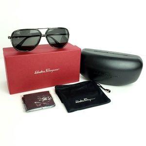 Salvatore Ferragamo Polarized Aviator Sunglasses